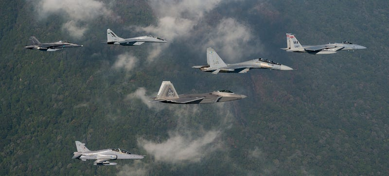 US Air Force's F-22s & F-15s Just Battled One Of Their Most Feared Foes