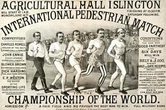 150 Years Ago, People Watched Competitive Walking Instead of Baseball
