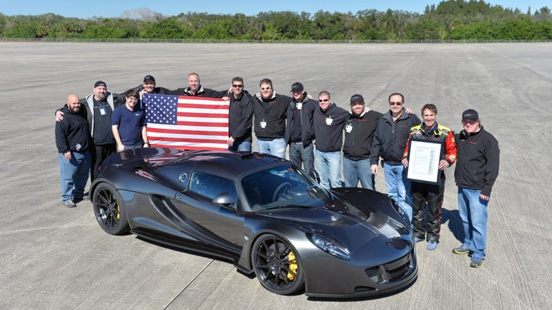 Watch The Hennessey Venom GT Hit A World Record 270.49 MPH At NASA