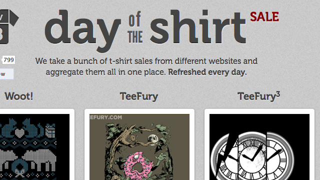 Day of the Shirt Collects Daily Deals on T-Shirts from Around the Web