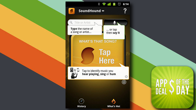 Daily App Deals: Get SoundHound ∞ for Android for Only 10¢ in Today's App Deals