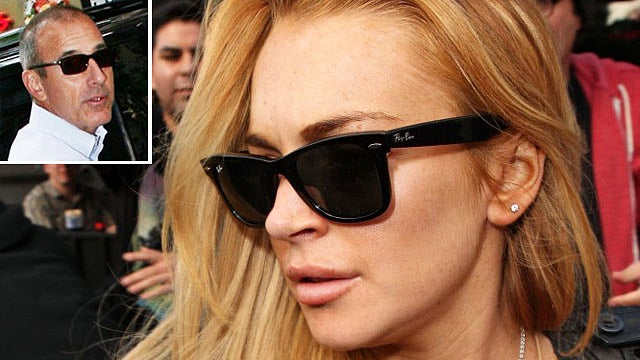 Lindsay Lohan Had a Diva-Off with Matt Lauer Last Night