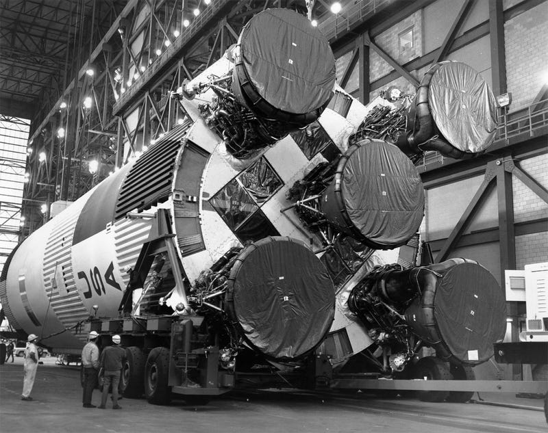 Amazing photos from NASA's vaults show how they assembled Apollo 11