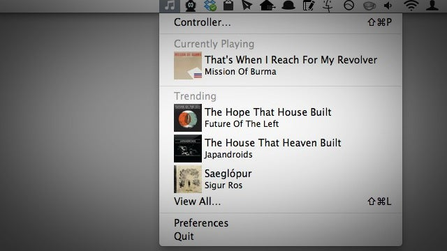 Audiozue Is a Menubar App That Controls Music, Shows Your Trending Songs, and More