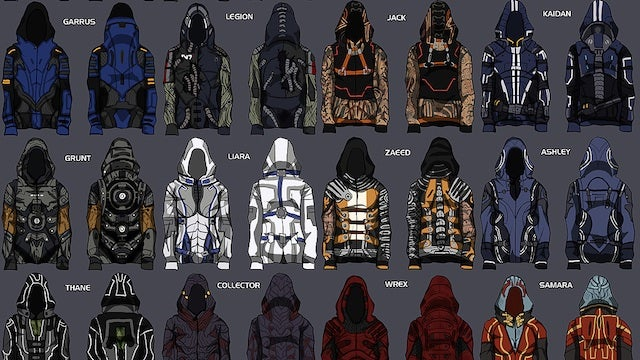 These Mass Effect Hoodies Make Video Game Clothing Finally Look Cool