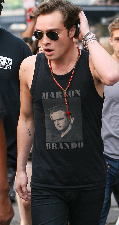 Ed Westwick Does His Best Marlon Brando Impression