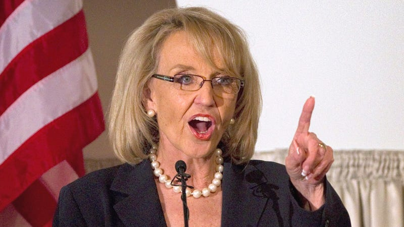 Brewer Gifts Arizona With Border Fence and Tea Party License Plates