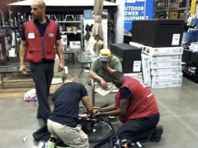 Lowe's Employees Stayed After Work to Fix a Vietnam Vet's Wheelchair