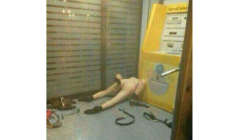 Naked Couple Busted Having Very Public Sex Next to an ATM