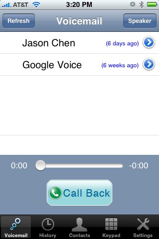 VoiceCentral iPhone App Controls Google Voice Somewhat Better