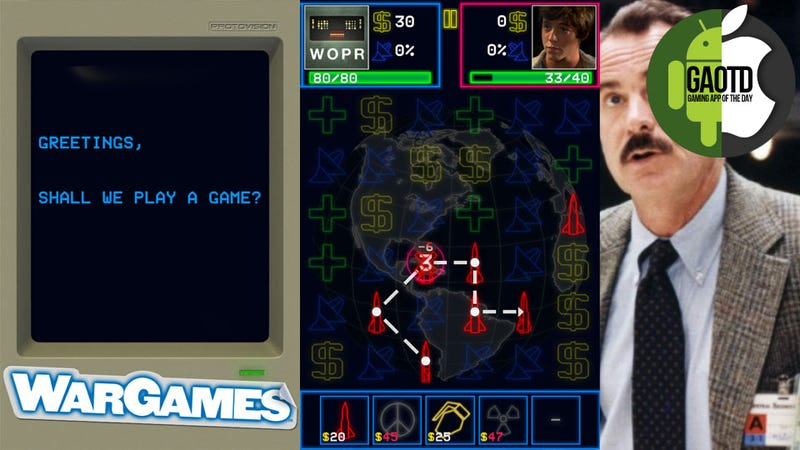 Global Thermonuclear War and the Single Man: It's the Week in Gaming Apps