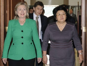 Clinton Visits Kyrgyzstan To Answer Extremely Important Fashion Questions