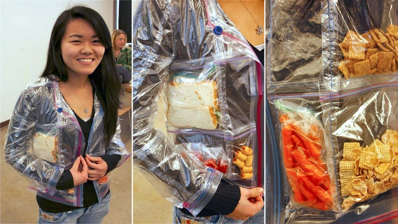 A Jacket Made from Ziploc Bags Is a Never-Ending Supply of Pockets