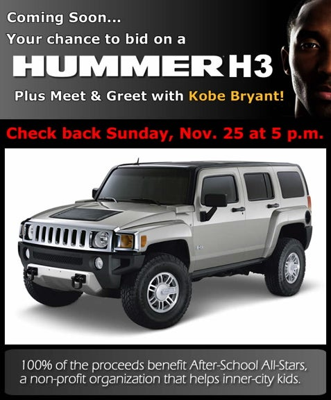Kobe Bryant Wants You to Have a Hummer... You Know, For Kids