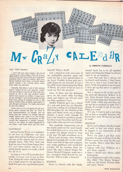 Hey, Crazy Cats, Let's Take A Way-Out Trip Through Teen Magazine, October 1960