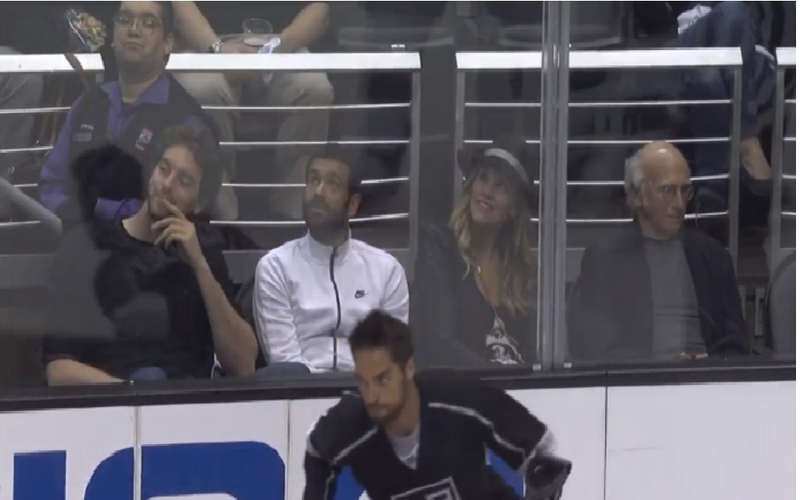 This Is How Much Larry David Enjoys Hockey