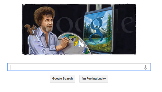 Finally, Google Doodles Bob Ross, America's Favorite Doodler