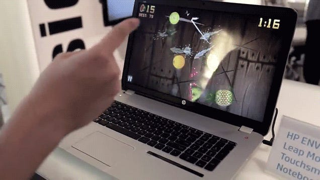 This is the first laptop that you can control without even touching it