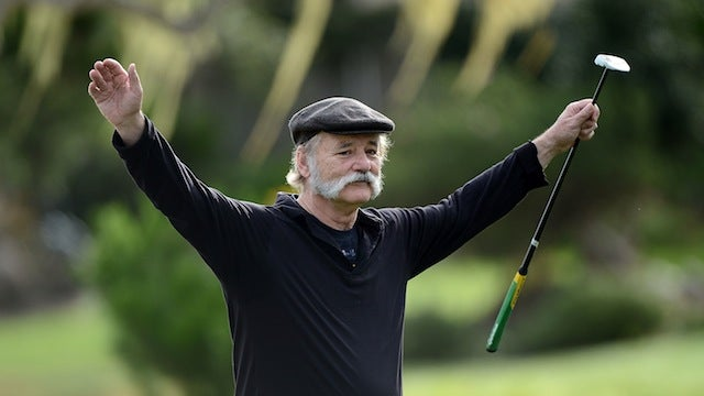 Bill Murray Fed His Divot To A Fan At The Pebble Beach Pro-Am