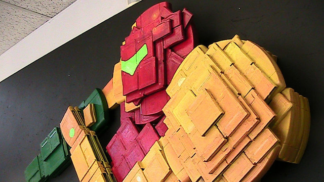 Feast Your Eyes on Metroid's Samus Aran Made from Nintendo Cartridges