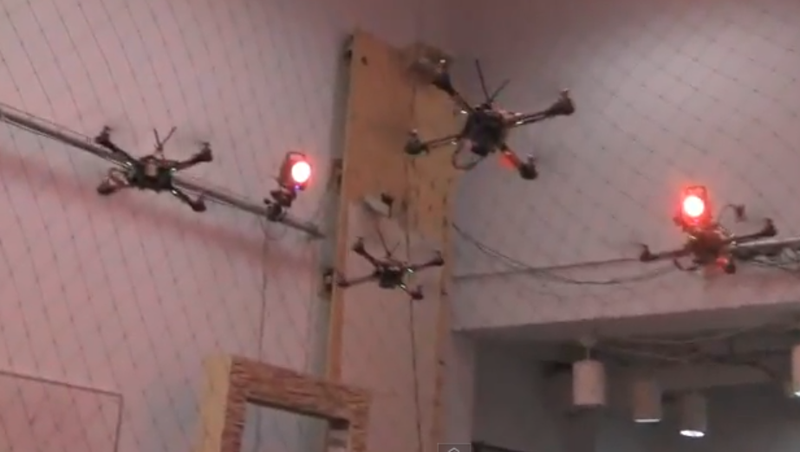 It's A Killer Swarm of Quadrotor Drones