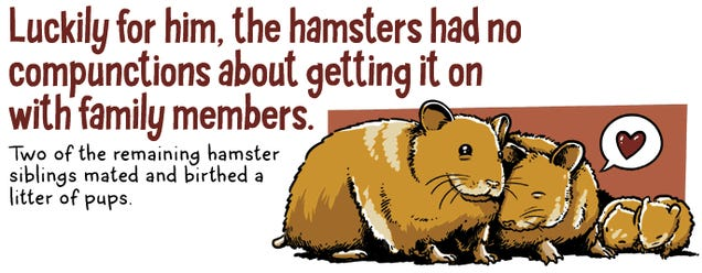 Your pet hamster is the product of incest