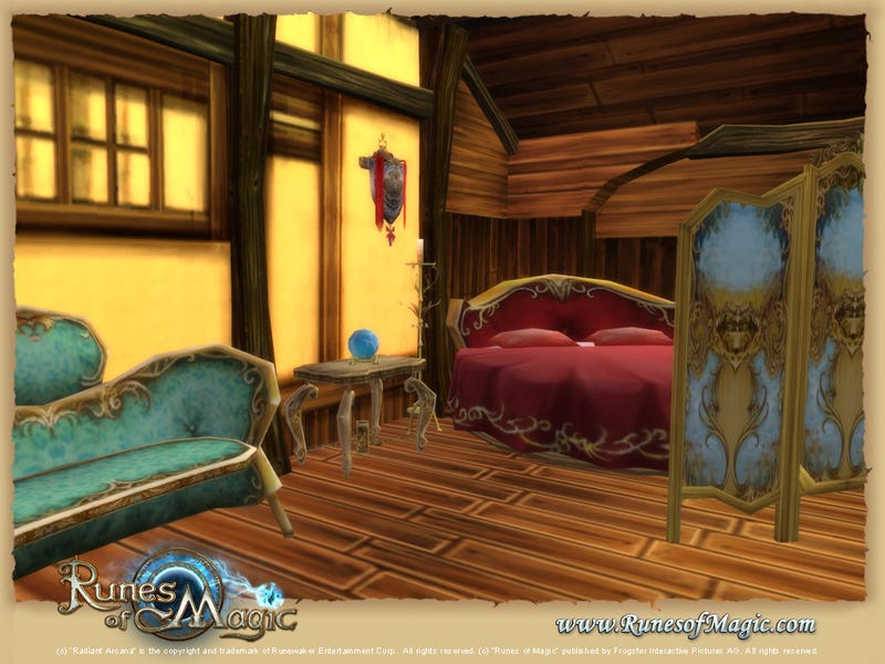 Runes Of Magic's Palatial Housing In Action