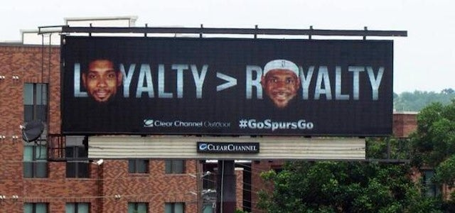 Stupid Spurs Billboard Is Stupid