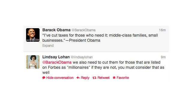 Lindsay Lohan, Woman of the People, Request a Tax Cut for Our Nation's Millionaires