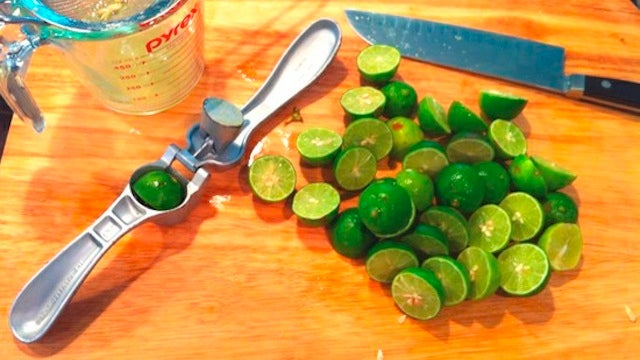 Use a Garlic Press to Juice Key Limes
