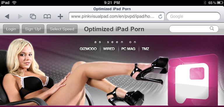 It's Here: iPad Optimized Porn