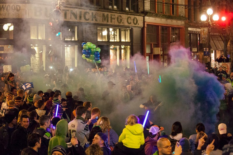 Shirtless, Drunk, And Champions: Scenes From The Seattle Celebrations