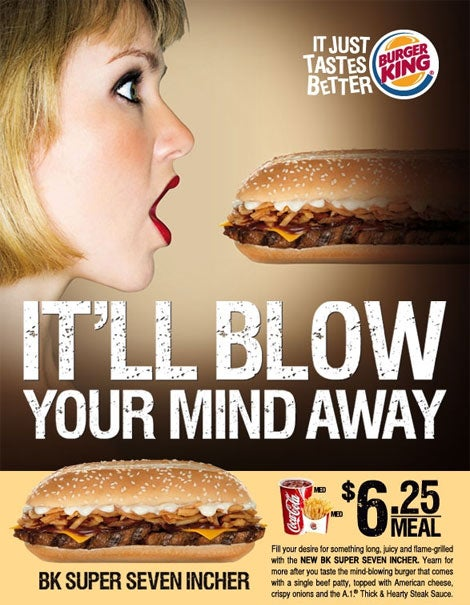 Eating a Burger King 'Super Seven Incher' Is Just Like Giving a Blow Job