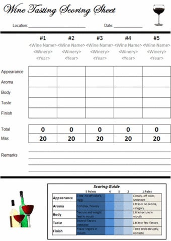 Use a Simple Spreadsheet to Organize and Rate Wine