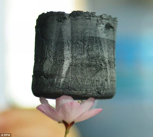 This is a picture of the lightest substance on Earth
