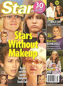 This Week In Tabloids: Aniston & Mayer Have Sex; Anorexic Stars Without Makeup