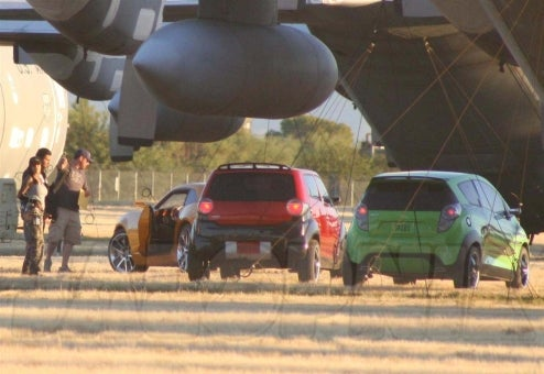 "Transformers 2 Caught At Air Force Base, Chevy Beat Bot To Be ""Skids"""