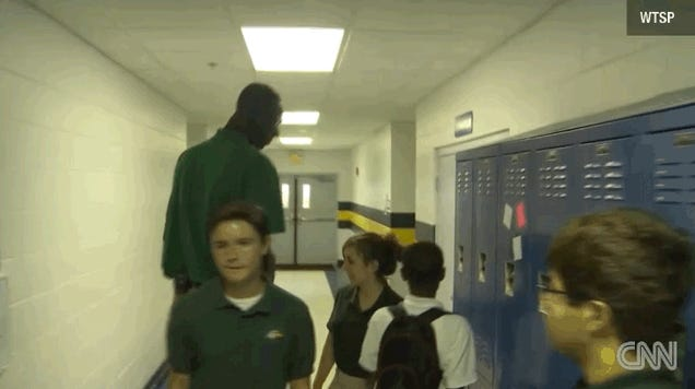 High School Basketball Player Is Enormous And Still Growing