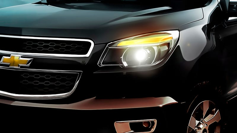 A teaser of the new Chevy Colorado you won't get