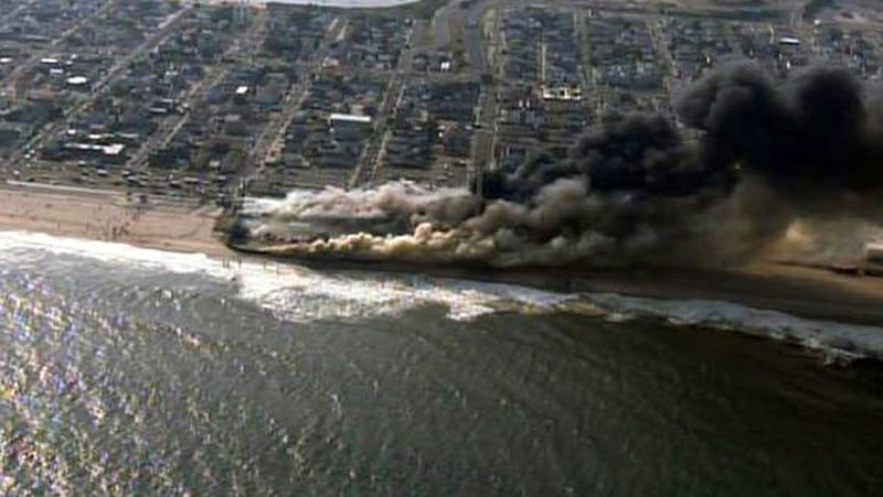 Firefighters Battle Flames on Famous New Jersey Boardwalk