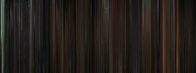 Classic Sci-Fi Films Represented as Multicolored Barcodes