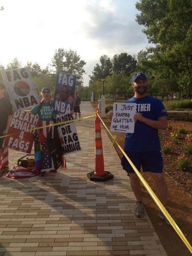 Westboro Baptist Got A Warm Welcome When It Protested The OKC Game