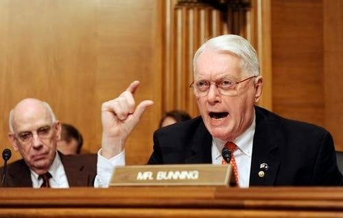 Sen. Jim Bunning, R-Pluto, Thinks Stephen Strasburg Is A Wuss