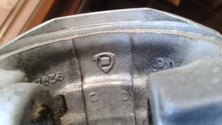 Speaking of parts bin bastards... Here's an interesting marking I found on the inside of my Fiat's old pistons: