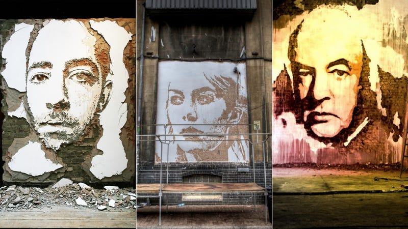 Why Paint Awesome Portraits When You Can Do the Same Destroying Walls?