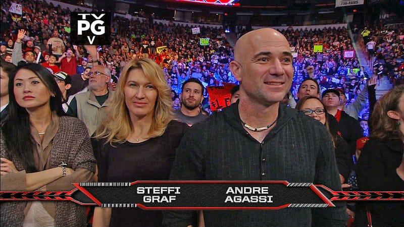 The Latest Sports Stars To Show Up As WWE Raw Spectators: Steffi Graf And Andre Agassi