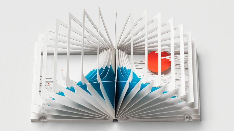 Mount Fuji Is Hidden Inside this Elaborate 360-Degree Pop-up Book