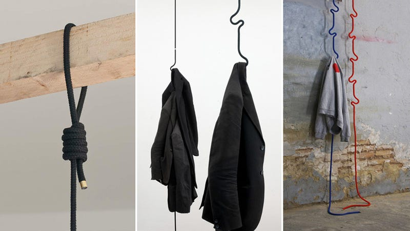 Hanging Rope Coatrack Doesn't Waste an Inch Of Floor Space
