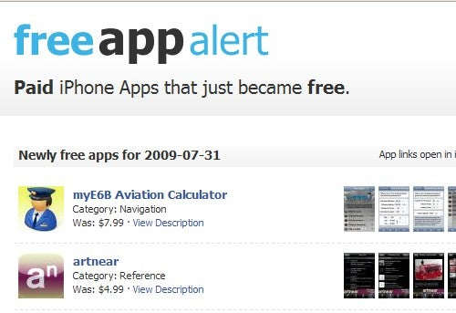 FreeAppAlert Notifies You When For-Pay iPhone Apps Become Free