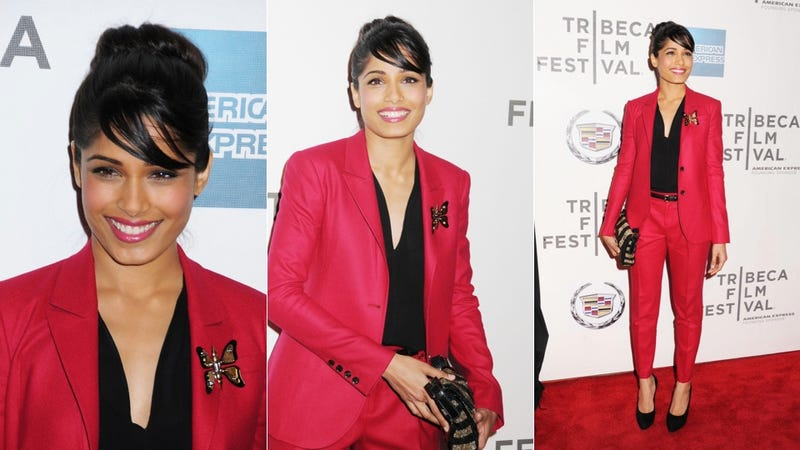 Freida Pinto Will Have You Seeing Red